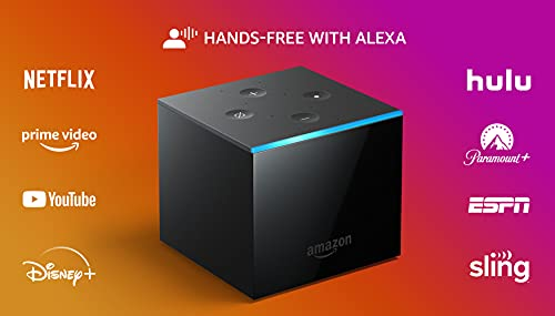 Fire TV Cube   Hands-free streaming device with Alexa   4K Ultra HD   2019 release